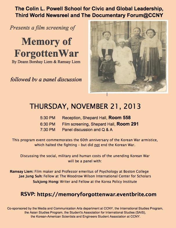 Memory Forgotten War
